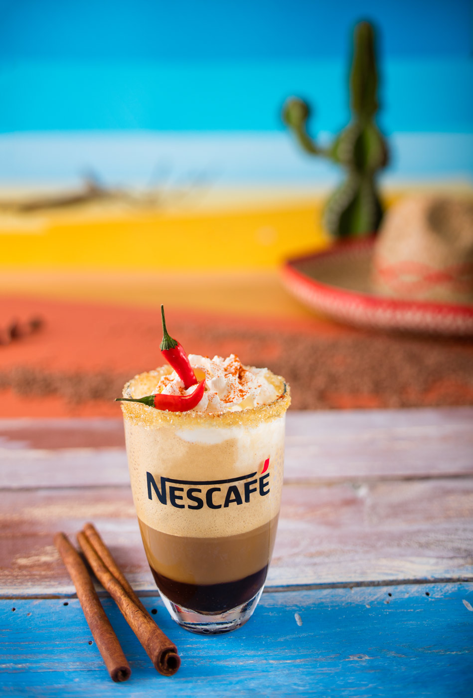 Nescafe frappe, mexican style recipe
