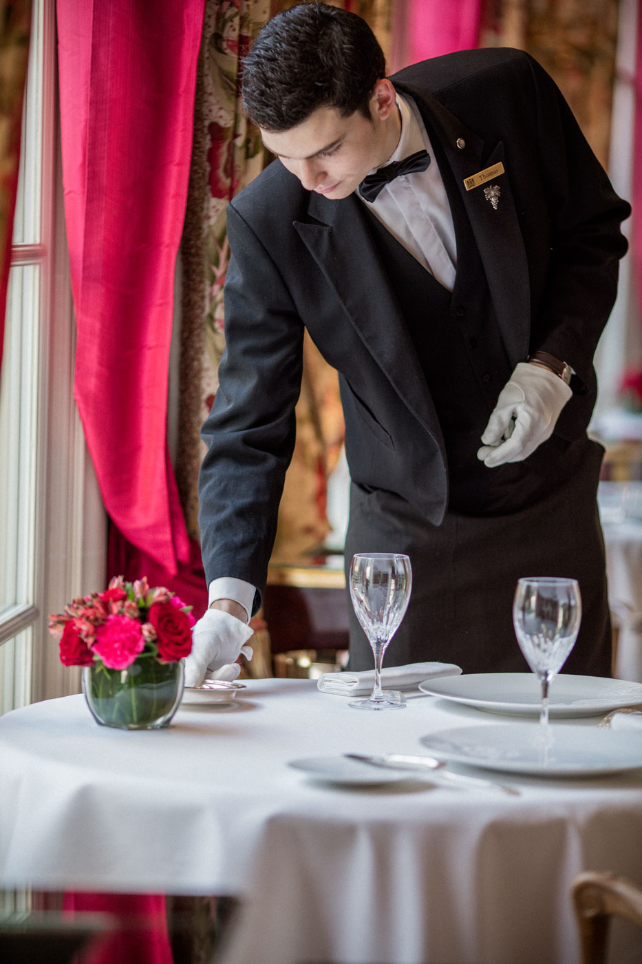 Staff working at the luxory hotel Le Bristol Paris