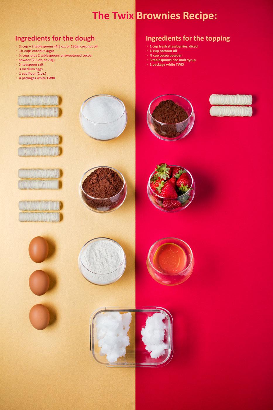 TWIX Peace-Brownies step by step recipe