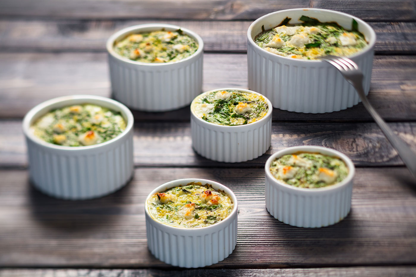Recipe image of casserole with spinach