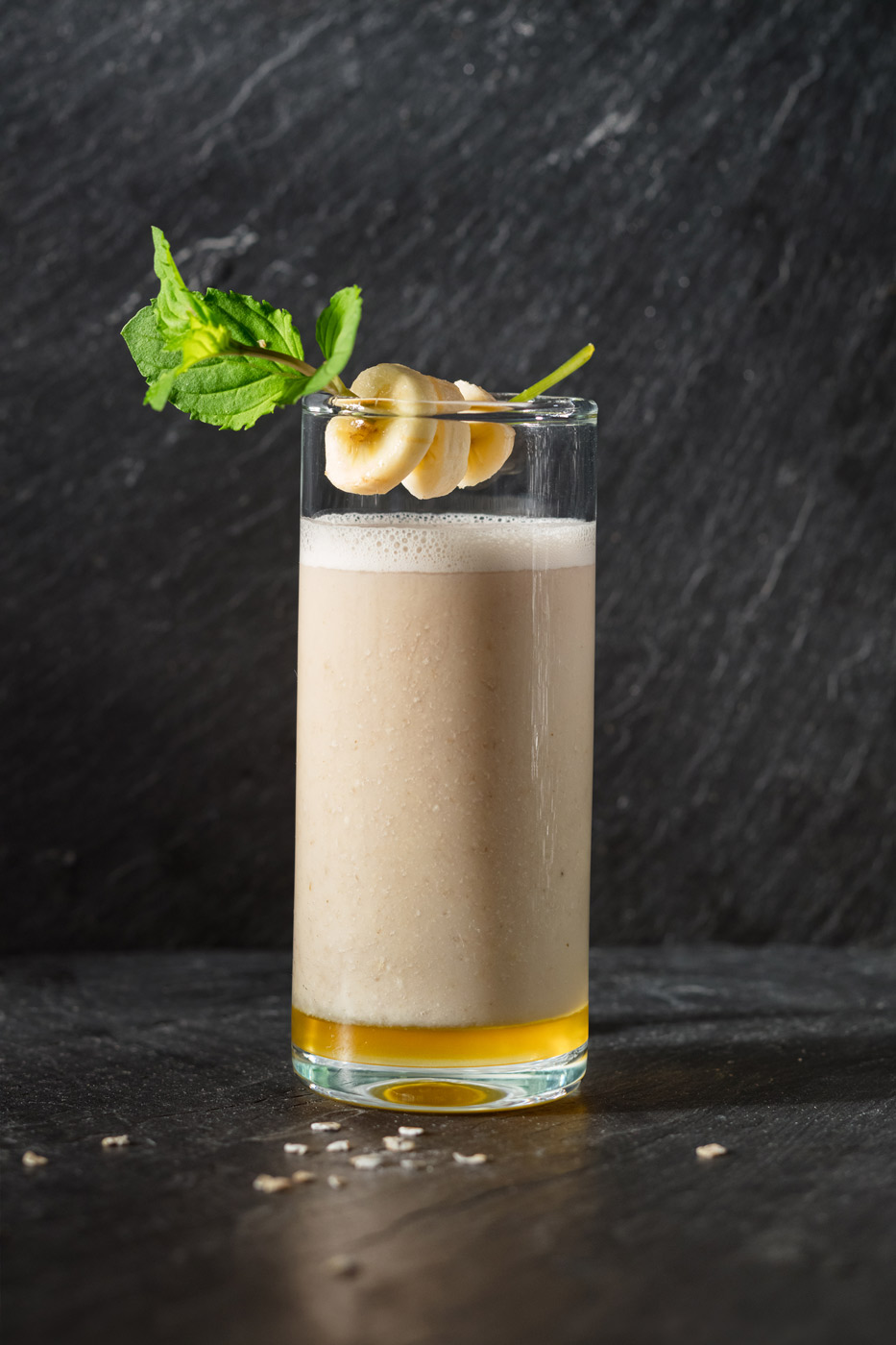 Recipe image of banana and rice milk cocktail with maple syrup